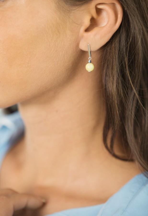 """Sun drops"" earrings No9"