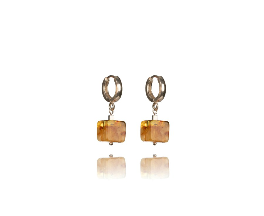 """""""Touch of modern"""" earrings No12 Brown"""
