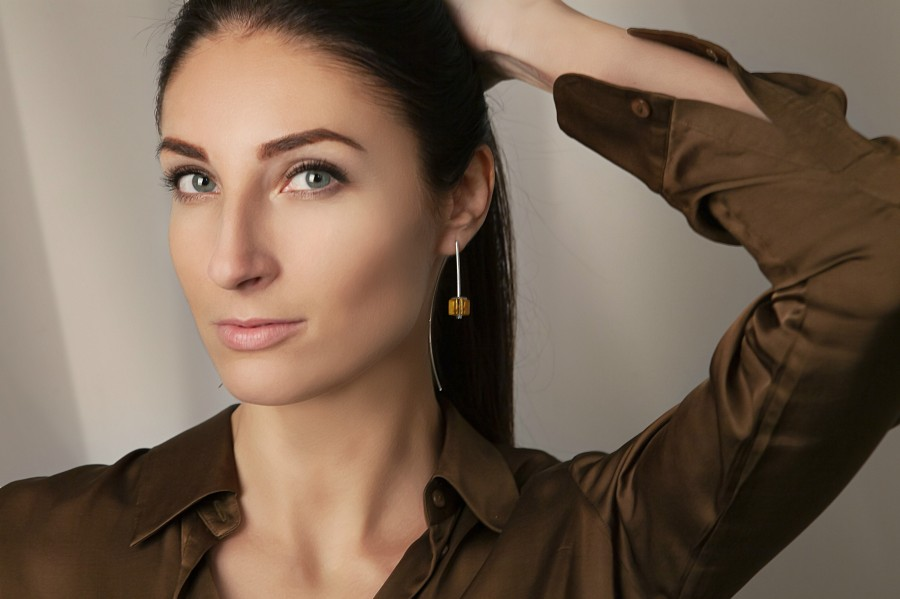 """""""Touch of modern"""" earrings No9"""