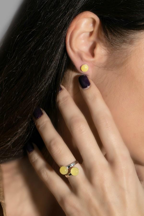 """Full moon"" earrings No1"