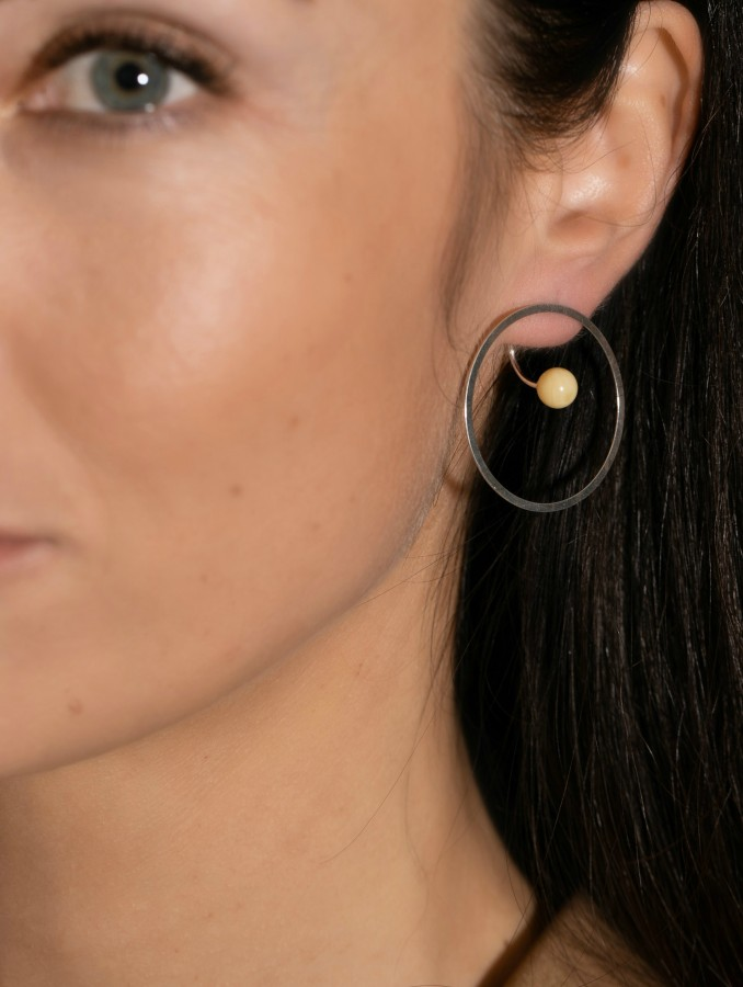 """Full moon"" earrings No2"