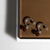 """Sun drops"" earrings No4 Cognac"